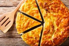 Close-up italiano do bolo de arroz da sobremesa Vista superior horizontal do abo foto de stock royalty free