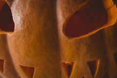 Close up of jack o lantern. Close up of orange jack o lantern Stock Photo