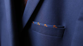Close-up of jacket pocket Royalty Free Stock Photography