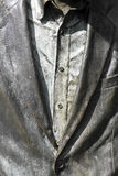 Close up of jacket and shirt. In metallic grey colors Stock Image