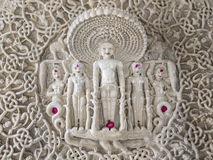Chaumukha Mandir - Ranakpur. Close up of jain temple in rajasthan state in india Royalty Free Stock Images