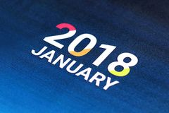 Close up of January 2018. Stock Images