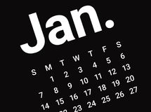 Close up of January. We wish you a new year filled with wonder, peace, and meaning Stock Photo