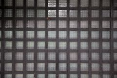 Close up of Japanese old wooden grid window or door. royalty free stock photo