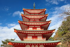 Close up Japanese pagoda tower Stock Photography