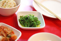Close up japanese salad from seaweed and sesame Stock Image