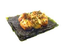 Close up japanese snack food close up of takoyaki on white background Stock Photos