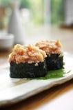 Close up japanese sushi from fish egg Royalty Free Stock Photos