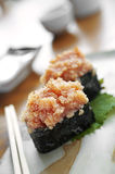 Close up japanese sushi from fish egg Stock Images