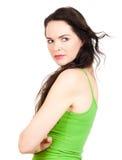 Close-up of jealous woman Royalty Free Stock Photos