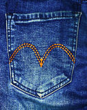 Close up jean pocket Stock Image
