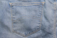 Close up of jeans backside pocket Stock Photos