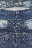 It is a close up of jeans pile Stock Photography