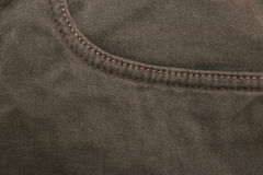 Close-up of a jeans pocket Royalty Free Stock Photos