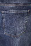 Close-up of a jeans pocket Stock Photography