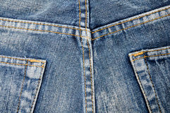 Close up jeans pocket back side of pant Royalty Free Stock Image