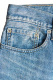 Close up of jeans pocket royalty free stock photo