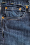 Close up of jeans pocket trousers Stock Photo