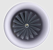 Close up on jet engine with turbine Royalty Free Stock Photos