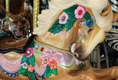 Close up of a jeweled carousel horse Royalty Free Stock Photos