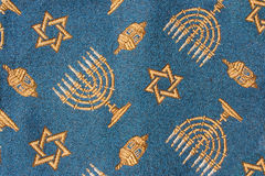 Close-up of Jewish Hanukkah fabric Stock Images