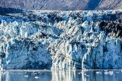 Detail features of the Johns Hopkins Glacier in Alaska Glacier Bay royalty free stock photography