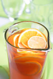 Close up of jug with orange juice Stock Images