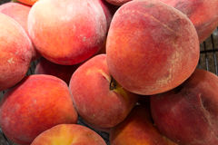 Close-up of juicy rippen peaches as background Royalty Free Stock Photo