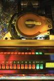 Close-up of jukebox.