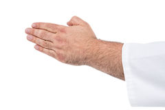 Close-up of karate fighter making hand gesture Royalty Free Stock Photography