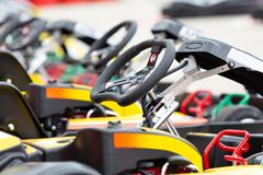 Close up of a kart Stock Photography