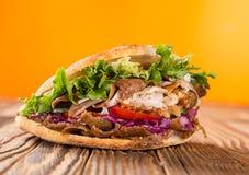 Close up of kebab sandwich Royalty Free Stock Image