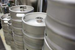 Close-up of keg. At bewery Stock Image