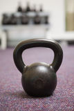 Close up of a kettle bell in gym Royalty Free Stock Photos