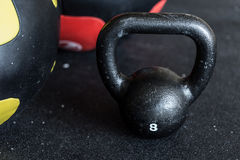 Close-up of kettlebell Stock Photography