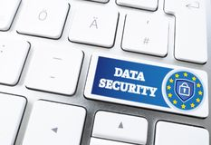 Key labeled DATA SECURITY on computer keyboard Royalty Free Stock Photos