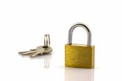 Close up key and lock. Royalty Free Stock Photo