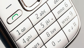 Mobile Phone Key Pad Royalty Free Stock Images