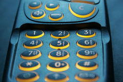 Close up on key pad of a phone Royalty Free Stock Photography