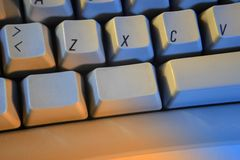 Close-up of a keyboard Royalty Free Stock Photo