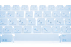 Close up of keyboard. Close-up photography Royalty Free Stock Photography