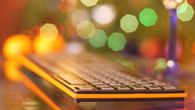 Close up of a keyboard stock footage