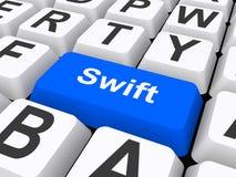 Blue swift button royalty free illustration