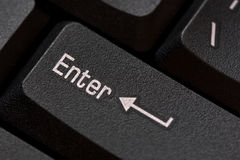 Close up of keyboard, enter computer key Stock Photography