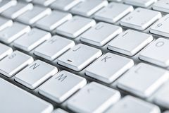 Close up of keyboard of a laptop Royalty Free Stock Images