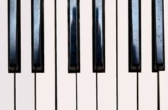 Close up of Keyboard of synthesizer Royalty Free Stock Image