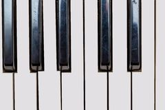 Close up of Keyboard of synthesizer Royalty Free Stock Images