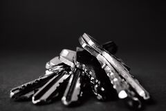 Close Up of Keys Stock Photography