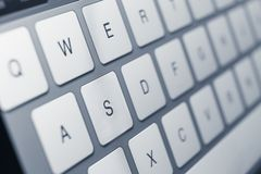 Close up of keys of laptop keyboard Royalty Free Stock Photos