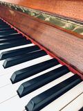 Close-up of the keys of a piano. stock photography